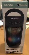 New In box Sylvania Portable Bluetooth Speaker Color Changing Neon Lights SP606