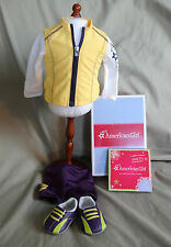 AMERICAN GIRL RETIRED CYCLING OUTFIT - NEW IN BOX - COMPLETE WITH CHARM