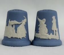 Set of Wedgwood Jasperware Thimbles Fairy Tale Cinderella &The Wizard of Oz