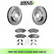 Front Disc Rotor & Ceramic Brake Pads for 2012-2017 Nissan Versa