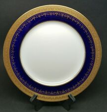"Aynsley GEORGIAN COBALT SMOOTH 10 5/8"" Dinner Plate Bone China 7348 RETIRED"