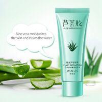100% Natural Aloe Vera Gel Face Moisturizer Skin Care Anti Wrinkle Acne