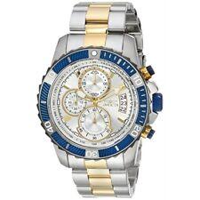 Invicta Mens 45mm Pro Diver Quartz Silver Dial Two-Tone SS Bracelet Watch 23994