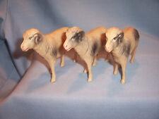 Dupont Viscoloid Pyroxylin Celluloid Christmas Nativity Farm Ram Sheep Goat Set
