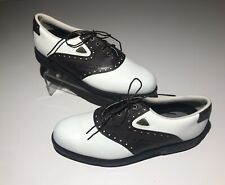 Footjoy Fit Dogs Golf Shoes Mens 10 M Brown White Style 53034 Cleats Spikes