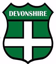 2 x Devon Devonshire Flag Decal Car Motorbike Laptop Window Sticker - Free P & P