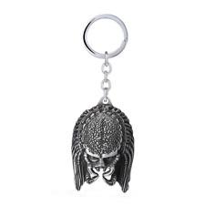 "Predator 3D Metal Keychain Keyring Head Face of Predator Alien Figure - 2.4"""