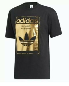 Adidas Superstar Tongue Black Goldfoil Logo Men T-Shirt GP4011