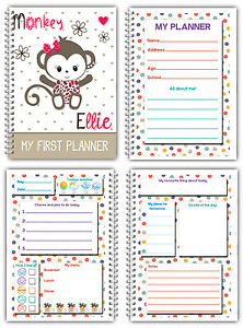PERSONALISED KIDS DAILY PLANNER/MY FIRST PLANNER 4 CHILDREN/A5 CHILDREN'S DIARY