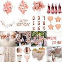 Rose Gold Series Foil Latex Balloon Helium Star Birthday Party Wedding Decor CAD