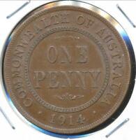 Australia, 1914 One Penny, 1d, George V - Very Fine