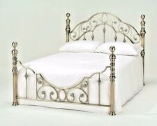 """LAVISH FLORENCE BRASS EFFECT BED FRAME BEDSTEAD IN DOUBLE 4'FT6""""**FREE DELIVERY*"""