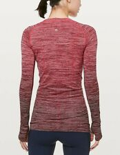 Lululemon Swiftly Tech Long Sleeve Crew Size 4 – Red Alter/White/Dark Sport Red/