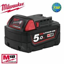 Milwaukee M18B5 18V 5.0Ah RED Li-ion Battery Pack - 5Ah 18 Volt Lithium Ion