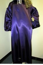 Plus Size Satin! High Shine Purple Poly Satin Balloon Shirt Gown