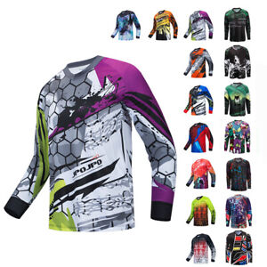 Men Cycling Jersey MTB Shirt Long Sleeve Bike Motorcycle Bicycle Clothes Anti-UV