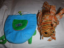 "Knapsack Garrier Ganz Lionfish Webkinz 10"" Plush Soft Toy Stuffed Animal"