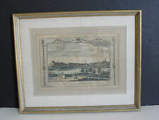 Town of Nottingham with the Castle Colored Engraved Print by Alex Hogg 1784.RARE