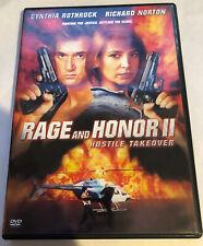 Rage and Honor II 2 Hostile Takeover DVD Cynthia Rothrock Richard Norton OOP VG