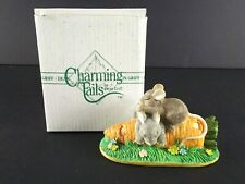 Fitz And Floyd Charming Tails Afier Lunch Snooze Figurine Mice Carrot Spring