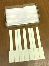 "Piano Keytops Set of 52 Simulated Glossy Ivory Grained, Short Head 1-15/16"""