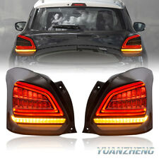 LED Rear Lights For Suzuki Swift 2017 2018 2019 Dynamic Indicator Tail Lamps R+L