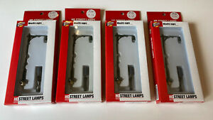 Walthers Cornerstone Built Ups Single Arm Street Lamp Kit x4