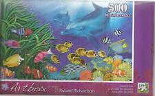 Dolphin dive 500 Piece Puzzle Roland Richardson Artbox New Tropical Fish LPF