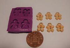 Escala 1:12 De Pan De Jengibre Hombre Molde Molde casa de muñecas en miniatura de accesorios de alimentos