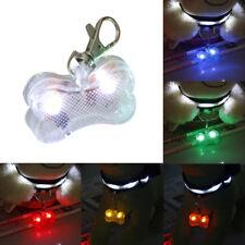 LED Light Up Dog Bone Shape ID Tag Pet Safety Collar Pendant for Walking Wide