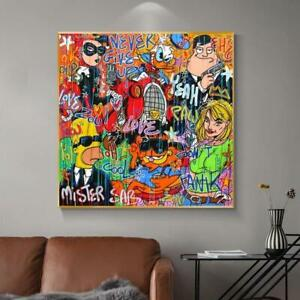 Poster Alec Monopoly Rich Money Cartoon Canvas Painting On The Wall Art Poster