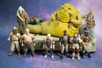 VINTAGE Star Wars COMPLETE JABBA THE HUTT PLAYSET +8 ACTION FIGURES LOT play set