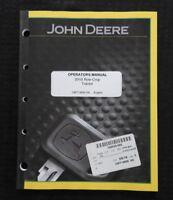 GENUINE JOHN DEERE 2010 ROW-CROP TRACTOR OPERATORS MANUAL NICE