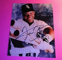Frank Thomas Chicago White Sox Signed 8x10 Glossy Photo Chicago White Sox BOLD