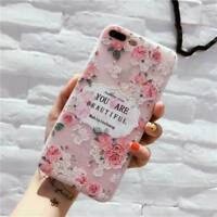 Shockproof Flower Pattern Soft TPU Silicone Case Cover for iPhone X 6s 7 8 Plus