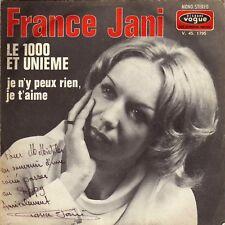 FRANCE JANI LE 1000 ET UNIEME FRENCH 45 SINGLE JEAN-CLAUDE PELLETIER DEDICACE