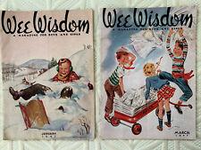 1947 Wee Wisdom Magazine Boys & Girls Lot of 2 Paper Dolls