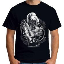 Velocitee Mens T Shirt Marilyn Monroe Outlaw Pop Art Tattoo Gangster A18519