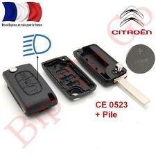Plip coque télécommande plip 3 boutons phare Citroen C1 C2 C3 C4 C5+Phare CE0523