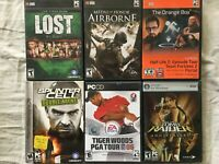 6 PC game Tiger Woods 06 Tomb Raider Ann MOH Airborne Splinter Cell Double Agent