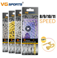 VG Sports 8/9/10/11 Speed Bicycle Chain Half Hollow Bike Chain Full Hollow Chain