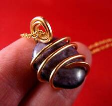 Grape Purple Russian Chaorite Pendant Bronze Merlin's Gold #16