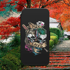 HARLEY QUINN/SUICIDE SQUAD/ART/FLIP WALLET PHONE CASE COVER FOR IPHONE/SAMSUNG