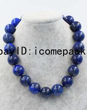 "blue lapis lazuli 20mm 18"" necklace wholesale  nature beads big size cheaper"