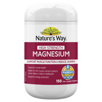 Nature's Way High Strength Magnesium 150 Tablets Muscle Function Health Natures