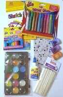 Childrens Craft Activity Pack A5 Pad Pencil Glue Glitter Glue Scissor Paint etc