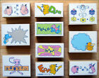 Pokemon Vintage Character Stamp Set of 10 by Tomy RARE DISCONTINUED ITEM!!!