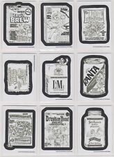 2017 Wacky Packages Old School 6 Complete Set Pencil Sketches 30/30