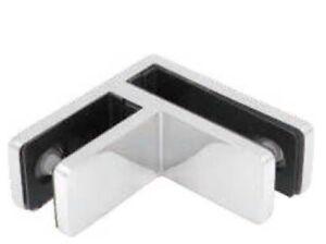 Stainless Steel 90 Degree Glass Balustrade Stiffener / Clamp 10-12mm - Duplex