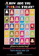 International  Feelings Cards Jim Borgman Spanish French Hebrew English & POSTER